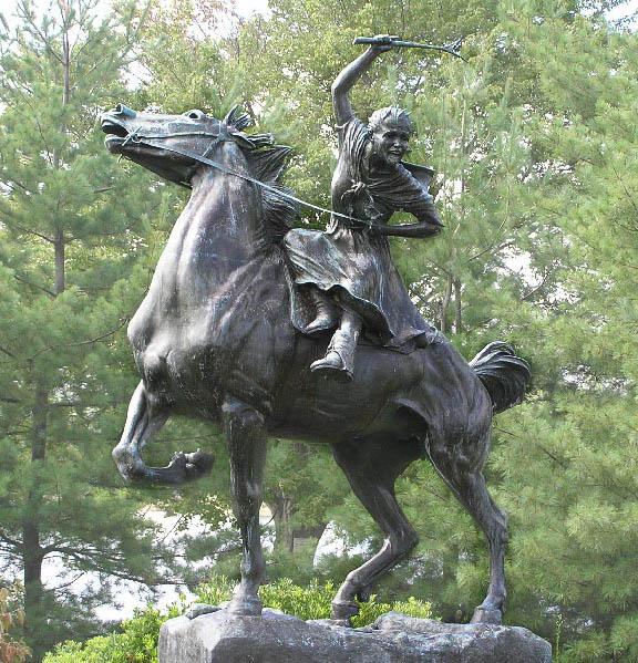 Sybil Ludington, American Heroine, female Paul Revere